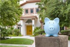 Mortgage savings. Save price money rental home debt royalty free stock photos