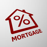 Mortgage. Stock illustration. Stock Images