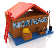 Mortgage to build a house Royalty Free Stock Image