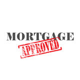 Mortgage Approved Word Stamp. Mortgage word with approved stamped across it Royalty Free Stock Photos