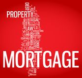 Mortgage word cloud illustration. Graphic tag collection Royalty Free Stock Image