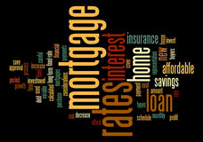 Mortgage Word Tag Cloud Illustration