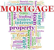 Mortgage wordcloud. Illustration of wordcloud contains words related to mortgage Royalty Free Stock Image