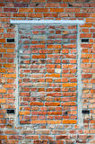 Mortgaged bricks window aperture Stock Photos