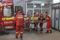 27 morti in fuoco del night-club di Bucarest Colectiv Fotografia Stock