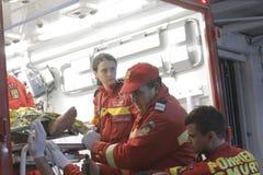 27 morti in fuoco del night-club di Bucarest Colectiv Immagine Stock