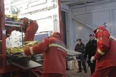 27 morti in fuoco del night-club di Bucarest Colectiv Immagini Stock Libere da Diritti