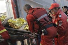 27 morti in fuoco del night-club di Bucarest Colectiv Immagine Stock Libera da Diritti