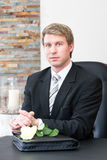 Mortician in his store Royalty Free Stock Images