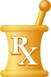 Mortier de pharmacie et pilon/ENV Image libre de droits