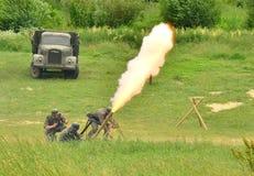 Mortier de tir Photographie stock libre de droits
