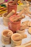 Mortier en bois photographie stock libre de droits