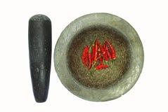 Mortier en pierre photographie stock