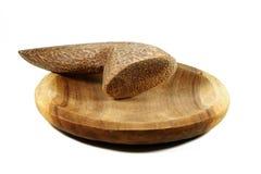 Mortier et pilon en bois indonésiens Photo stock