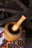Mortier et pilon traditionnels Images stock