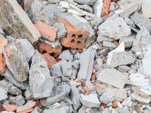 Mortierfragmenten en puin Royalty-vrije Stock Fotografie