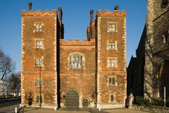 Morton's Tower Gatehouse - Lambeth. Palace, London, England Stock Images