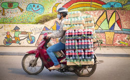 Mortorbike, Hanoi, Vietnam Royalty Free Stock Photos