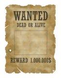Morts ou vivant voulus Photo stock