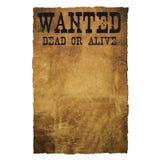 Morts ou vivant voulus Image stock