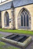 Mortsafe在Greyfriars公墓 库存照片