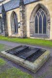 Mortsafe dans le cimetière de Greyfriars à Edimbourg Photographie stock