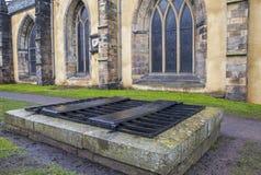 Mortsafe dans le cimetière de Greyfriars à Edimbourg Images libres de droits