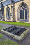 Mortsafe in Greyfriars Cemetery in Edinburgh Stock Photography