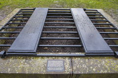 A Mortsafe in Greyfriars Cemetery in Edinburgh Royalty Free Stock Image