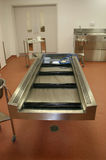 Mortuary examination table Stock Image