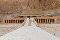The Mortuary Temple of Hatshepsut, also known as the Djeser-Djeseru in Luxor, Egypt. The Mortuary Temple of Hatshepsut, also known as the Djeser-Djeseru is a stock image