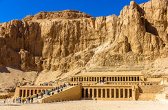 Mortuary temple of Hatshepsut in Deir el-Bahari Royalty Free Stock Photography