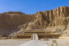 Mortuary Temple of Hatshepsut, Egypt. Mortuary Temple of Hatshepesut, also known as the Djeser-Djeseru, is a temple of Ancient Egypt located in Upper Egypt royalty free stock photos
