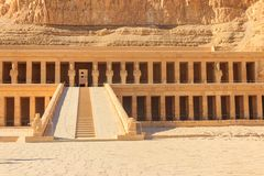 Mortuary Temple of Hatshepsut. In Luxor, Egypt royalty free stock photos