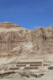 Mortuary temple of Queen Hapshepsut,. One of the few female pharaohs, at Deir el-Bahri near Luxor (Thebes), Egypt royalty free stock images