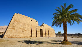 Mortuary Temple of Ramesses III. Egypt. Luxor. Medinet Habu - the First Pylon of the Mortuary Temple of Ramesses III Royalty Free Stock Photo