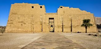 Mortuary Temple of Ramesses III Stock Photo
