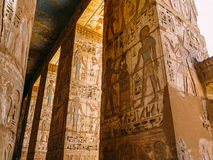 Mortuary Temple of Ramesses III at Medinet Habu. The Mortuary Temple of Ramesses III at Medinet Habu is an important New Kingdom period structure in the West stock image