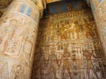 Mortuary Temple of Ramesses III at Medinet Habu Stock Images