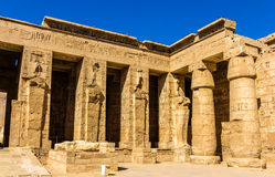 Mortuary Temple of Ramses III. in Egypt Royalty Free Stock Image