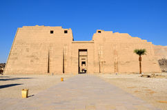 Mortuary Temple of Ramses III. In Luxor,,Egypt stock images