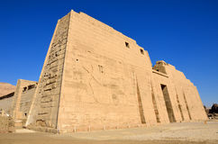 Mortuary Temple of Ramses III. In Luxor,,Egypt stock image
