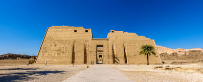 The mortuary Temple of Ramses III near Luxor Royalty Free Stock Photos