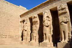 Mortuary Temple of Ramses III Stock Photos