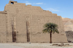 Mortuary Temple of Ramses 3 in Medinet Habu. Ancient Egypt royalty free stock image