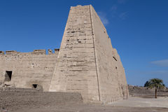 Mortuary Temple of Ramses 3 in Medinet Habu. Ancient Egypt royalty free stock photos