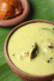 Moru curry or kalan - a traditional kerala dish. Moru curry or kalan is a traditional kerala dish. It can be prepared with Yam,raw plantain or wintermelon.This Stock Image