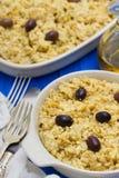 Morue portugaise de plat avec la pomme de terre et les oeufs sur le plat Photographie stock libre de droits