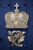 Morwegian emblem. Symbol of royal family Stock Images