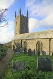 Morwenstow cmentarz i kościół fotografia stock